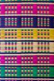 Beeld van gevlechte multi gekleurde papyrusgarens Royalty-vrije Stock Afbeelding