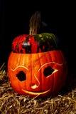 Beeld van Halloween-pompoen in oranje kleur royalty-vrije stock afbeelding