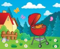Beeld 2 van het barbecueonderwerp vector illustratie