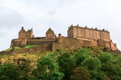 Beeld van het Kasteel van Edinburgh in Edinburgh, Schotland Stock Afbeelding