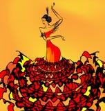 Beeld van het meisje van de flamencodanser Royalty-vrije Stock Foto