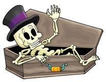 Beeld 3 van het skeletthema Royalty-vrije Stock Foto