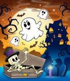 Beeld 1 van het spookhuisonderwerp Stock Afbeeldingen