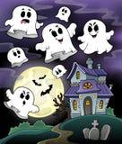 Beeld 5 van het spookhuisthema Stock Foto