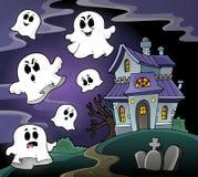 Beeld 4 van het spookhuisthema Stock Fotografie