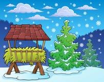 Beeld 2 van het wintertijdthema Stock Afbeeldingen