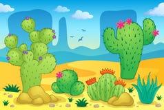 Beeld 2 van het woestijnthema Stock Afbeelding