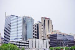 Beeld van Indianapolis van de binnenstad, stock afbeelding