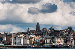 Beeld van Istanboel op een stormachtige dag Royalty-vrije Stock Foto's