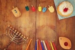 Beeld van Joodse vakantiechanoeka Royalty-vrije Stock Foto's
