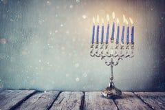 Beeld van Joodse vakantiechanoeka Royalty-vrije Stock Foto