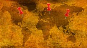 beeld van kaart op stof als dichte omhooggaand als achtergrond Stock Afbeelding
