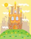 Beeld van kasteel Stock Afbeeldingen
