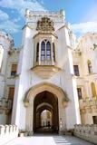Beeld van kasteel gluboka-nad-Vltavoy Stock Foto