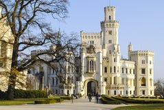 Beeld van kasteel gluboka-nad-Vltavoy Stock Fotografie