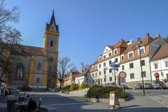 Beeld van klein dorp in Tsjechische Republiek Stock Afbeeldingen