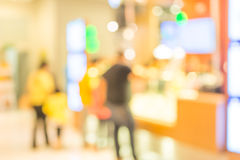 beeld van kleinhandelswinkel Vage achtergrond Stock Foto's