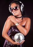 Beeld van leuk DJ Stock Foto's