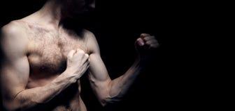 Beeld van lichtgewichtvechter Stock Afbeeldingen