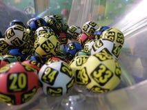 Beeld van loterijballen tijdens extractie Royalty-vrije Stock Fotografie