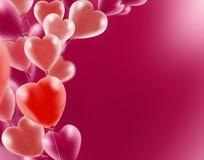 Beeld van mooie rode ballons, Royalty-vrije Stock Foto