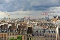Beeld van Parijs uit Montmartre wordt genomen die royalty-vrije stock afbeeldingen
