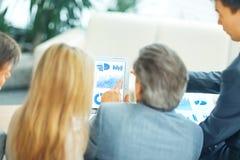 Beeld van partners het bespreken Stock Afbeelding