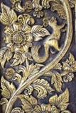 Patroon oud van het beeldhouwwerk van de Muur Royalty-vrije Stock Fotografie