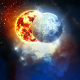 Beeld van planeten in ruimte royalty-vrije illustratie