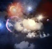 Beeld van planeten in ruimte stock illustratie