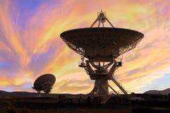 Beeld van Radiotelescopen Stock Foto's