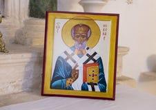 Beeld van San Nicola van Myra royalty-vrije stock afbeeldingen