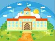 Beeld van schoolgebouwen Royalty-vrije Stock Foto's