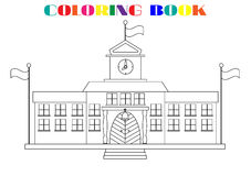 Beeld van schoolgebouwen - kleurend boek Royalty-vrije Stock Afbeelding
