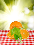Beeld van sinaasappelen op de lijst royalty-vrije stock foto's