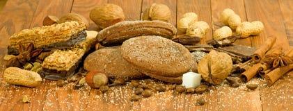 beeld van snoepjes voor theeclose-up Stock Afbeelding