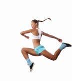 Beeld van sportvrouw het springen Royalty-vrije Stock Afbeelding