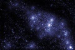 Beeld van sterren en nevelwolken in diepe ruimte Stock Foto