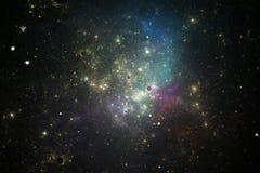 Beeld van sterren en nevelwolken in diepe ruimte Royalty-vrije Stock Afbeeldingen
