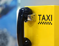 Beeld van taxitelefoon in luchthaven Royalty-vrije Stock Afbeeldingen