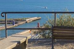 Beeld van toeristenplaats Castiglione Della Pescaia in Italië met a Royalty-vrije Stock Foto's
