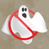 Beeld van vliegend spook Halloween Stock Fotografie