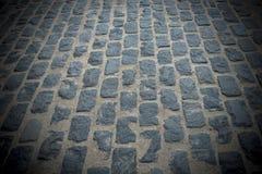 Beeld van vloer van de perspectief de oude steen stock foto
