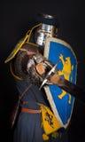 Beeld van zware ridder Stock Foto