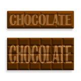 Beeld van zwarte chocolade royalty-vrije illustratie