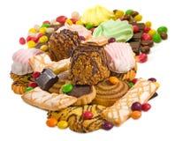 Beeld vele heerlijke koekjesclose-up stock afbeeldingen