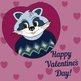 Beeld voor kleren, kaarten De gelukkige Dag van de Valentijnskaart `s! Royalty-vrije Stock Afbeelding