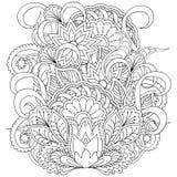 Beeld voor volwassen kleurende pagina royalty-vrije illustratie