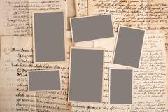 Beelden op brieven stock afbeeldingen