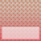 Beelden op het behang van de valentijnskaartendag stock illustratie